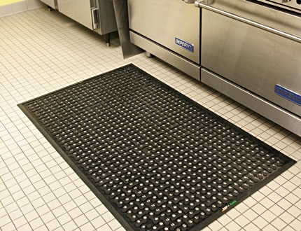Alsco anti-fatigue mats suitable for standing employees