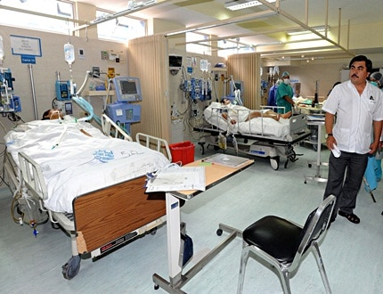Sick patients in a hospital