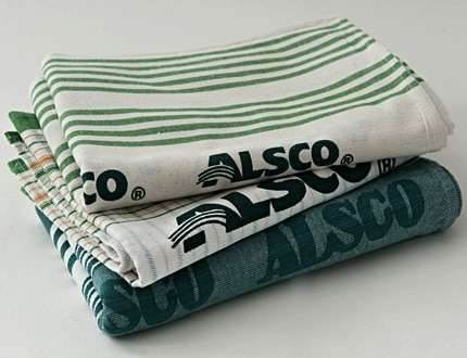 Clean tea towels from Alsco