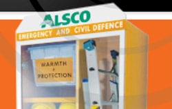 View of Alsco emergency and civil defence cabinet