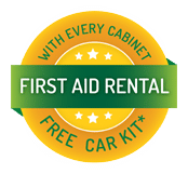 First Aid Rental - Free car kit with every cabinet