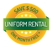 One Month Free Uniform Rental