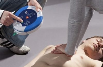 A first aid training using Alsco defibrillator