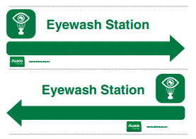 eyewash station signage poster