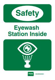 eyewash station safety reminder poster