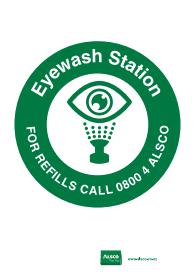 eyewash station refills reminder poster