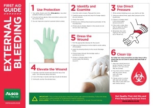 Alsco external bleeding First Aid guide