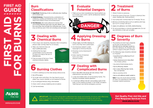 Alsco for burns First Aid guide