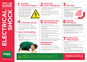 Alsco electrical shock First Aid guide