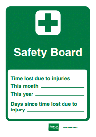 safety board first aid tag