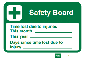 white and green safety board printable