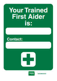 first aider name tag
