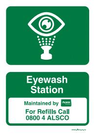 eyewash station poster