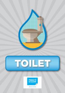 Washroom Toilet Sign