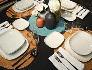 Complete set of reusable tablewares