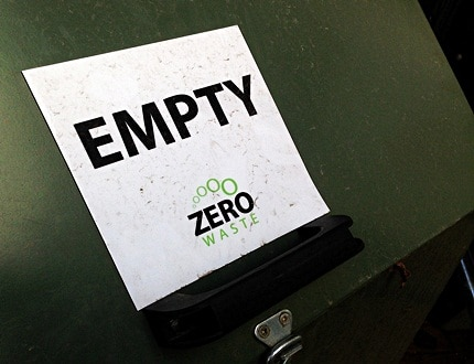 Mission zero signage for wastes
