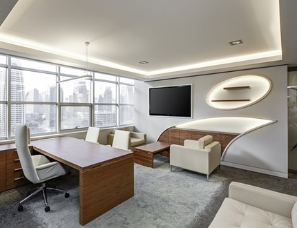 A neat and clean office