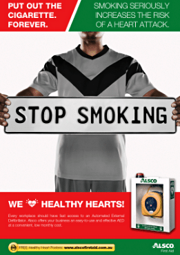 stop smoking health message poster