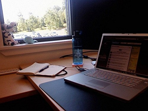 Working near the window