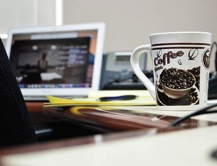 Mug in an office table
