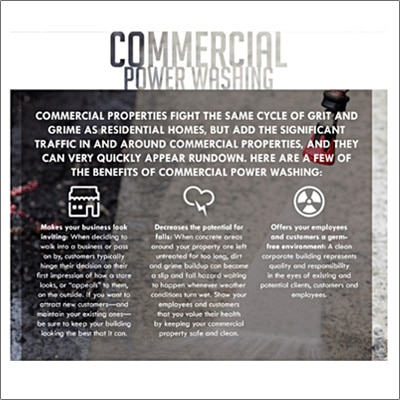 commercial power washing details