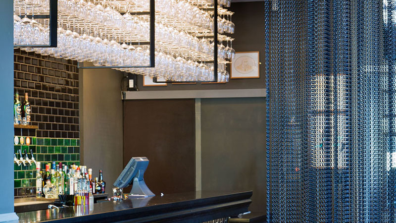 fancy restaurant bar