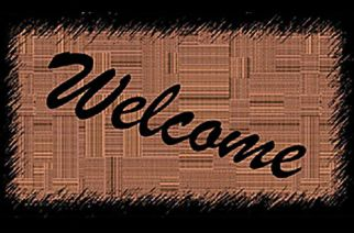 Black Brown Welcome Mat