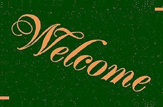 Green Welcome Mat