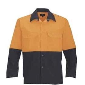 Navy/orange polycotton work shirt
