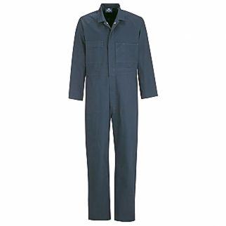Industrial Navy Cotton Drill Dome Coverall
