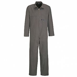 Industrial Gray Drill Zip Overall