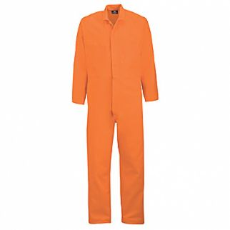 Industrial Orange Cotton Drill Dome Overall