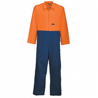 Industrial Polycotton 2 Tone Orange Navy Overall