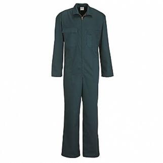 Industrial Spruce Green Polycotton Zip Coverall Long Sleeve