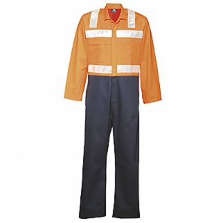 Industrial Two Tone Cotton Overall with Tape