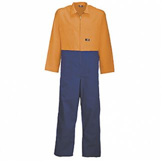 Industrial Two Tone Polycotton Overall Orange Royal Blue