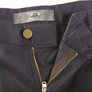 close view of women black cargo trouser