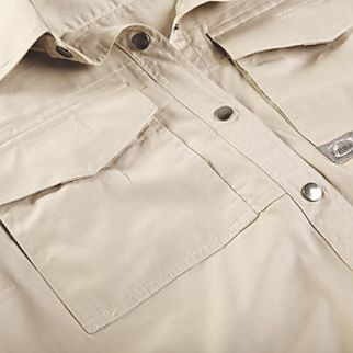 close up look of men workwear shirt