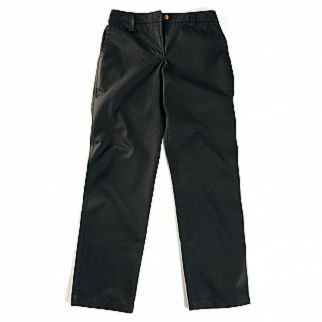 front view of a black plain trouser for women