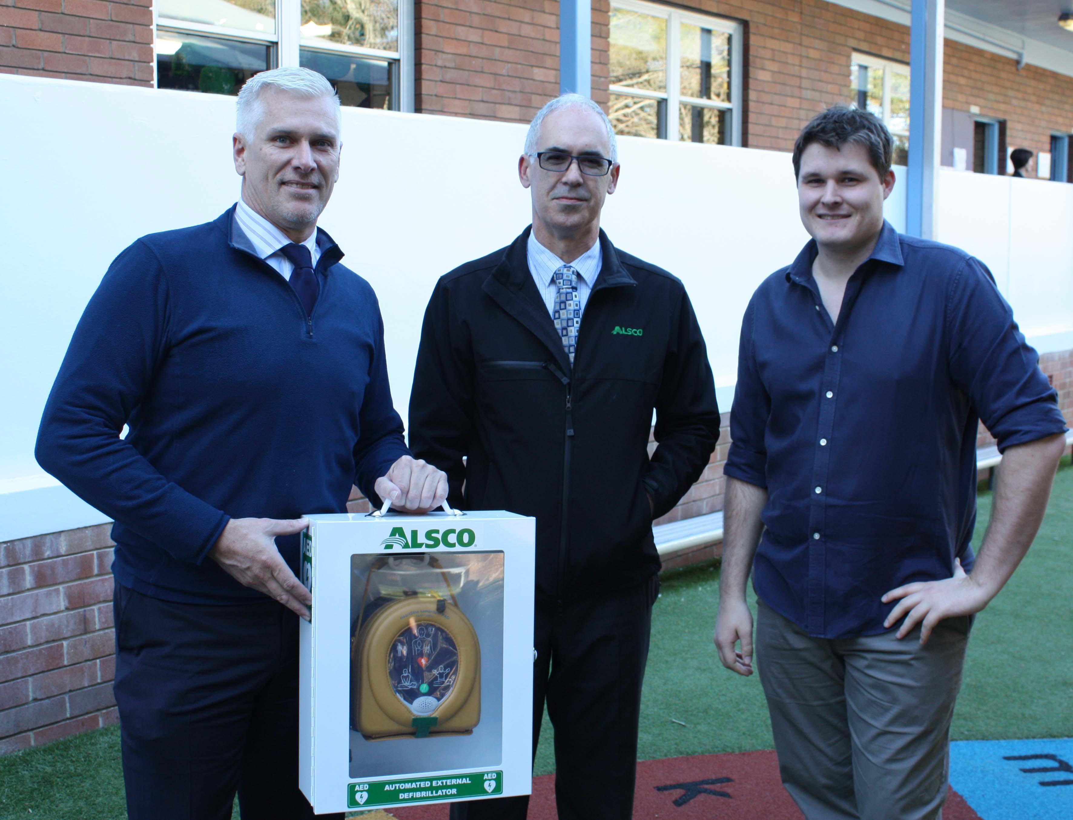 Alsco Defibrillator Donation