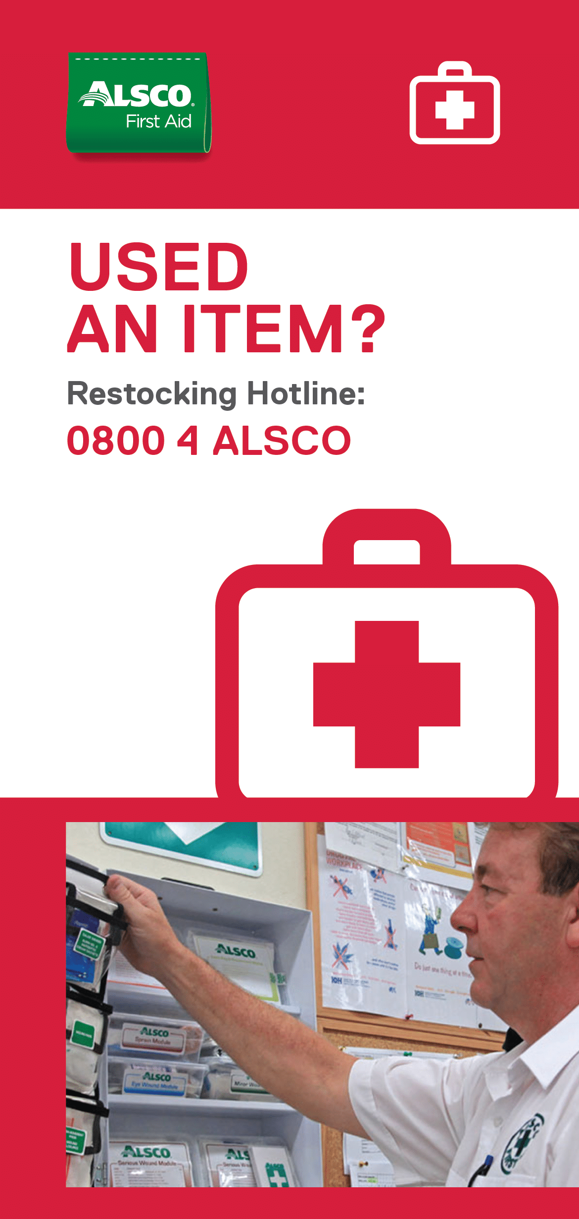 First Aid Restocking Sign Posters - Alsco New Zealand
