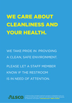 Cleanliness and Health posters alsco