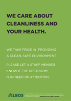 Cleanliness and Health posters from alsco