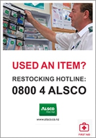 Alsco first aid restocking hotline