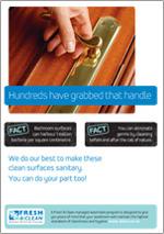 door handle safety message poster