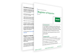 Alsco First Aid Injury Register Posters