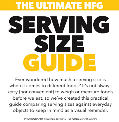 A helpful serving size guide