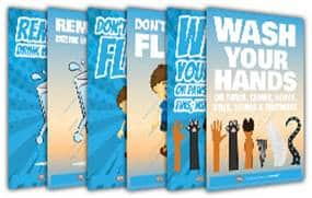 hand washing posters for children