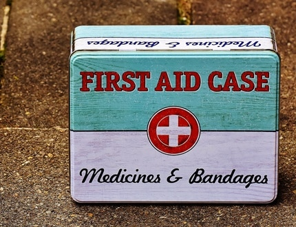 Firt aid case - medicines and bandages