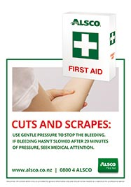 Cuts and scrapes first aid